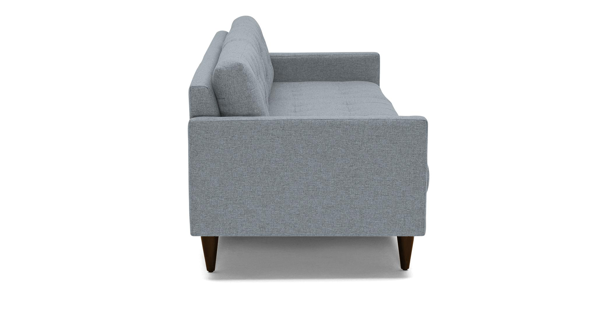Gray Eliot Mid Century Modern Grand Sofa - Synergy Pewter - Mocha