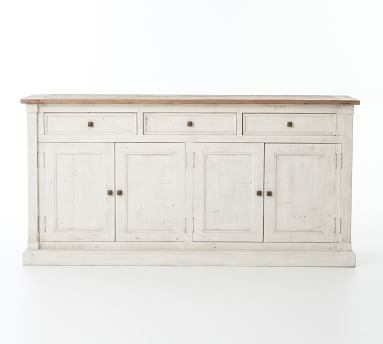 "Hart 71"" Reclaimed Wood Buffet Driftwood/Limestone White"