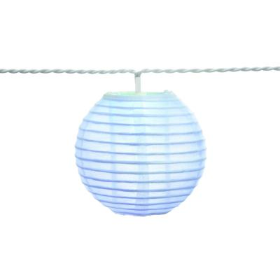Hampton Bay Outdoor/Indoor 7 ft. 10-Light Battery Powered Paper Lantern Mini Multi-Color Bulb LED String Light (2-Pack)
