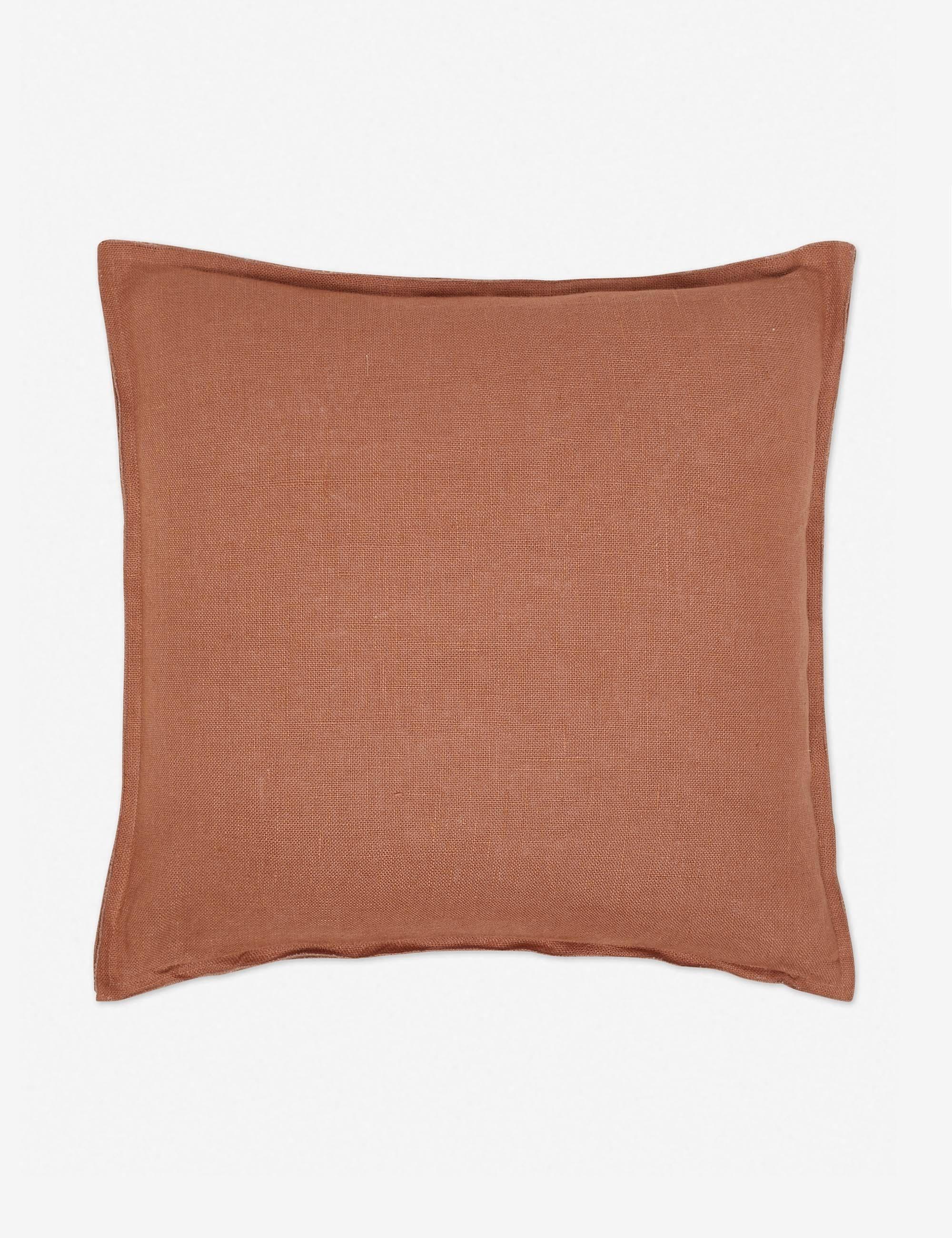 Arlo Linen Pillow, Rust