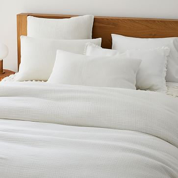 Dreamy Gauze Cotton Duvet, King/Cal. King Set, White