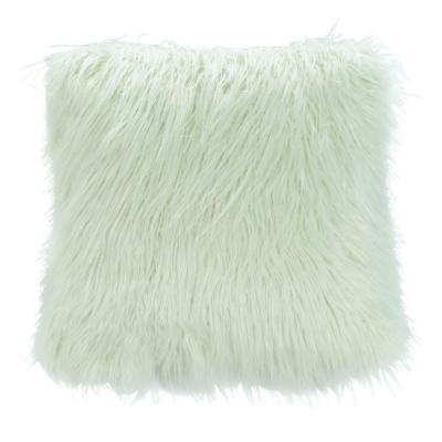 Safavieh Caelie Faux Fur Mint 20 in. x 20 in. Throw Pillow, Green