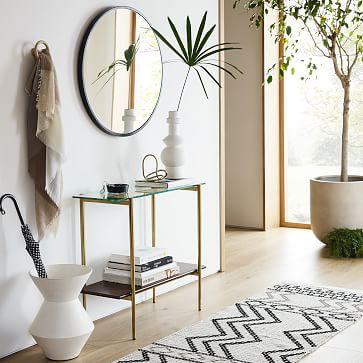 Thom Textured Floor Vase, Green, Large