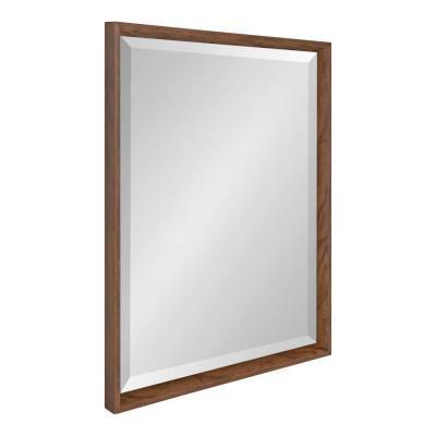 Kate and Laurel Calter Rectangle Walnut Brown Wall Mirror