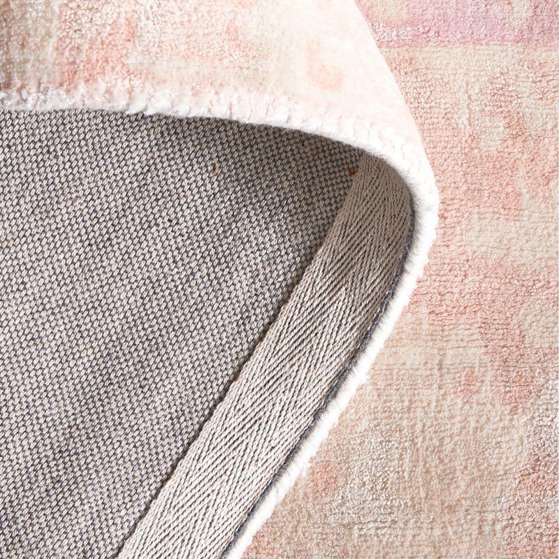 Pink Printed 8x10' Viscose Rug