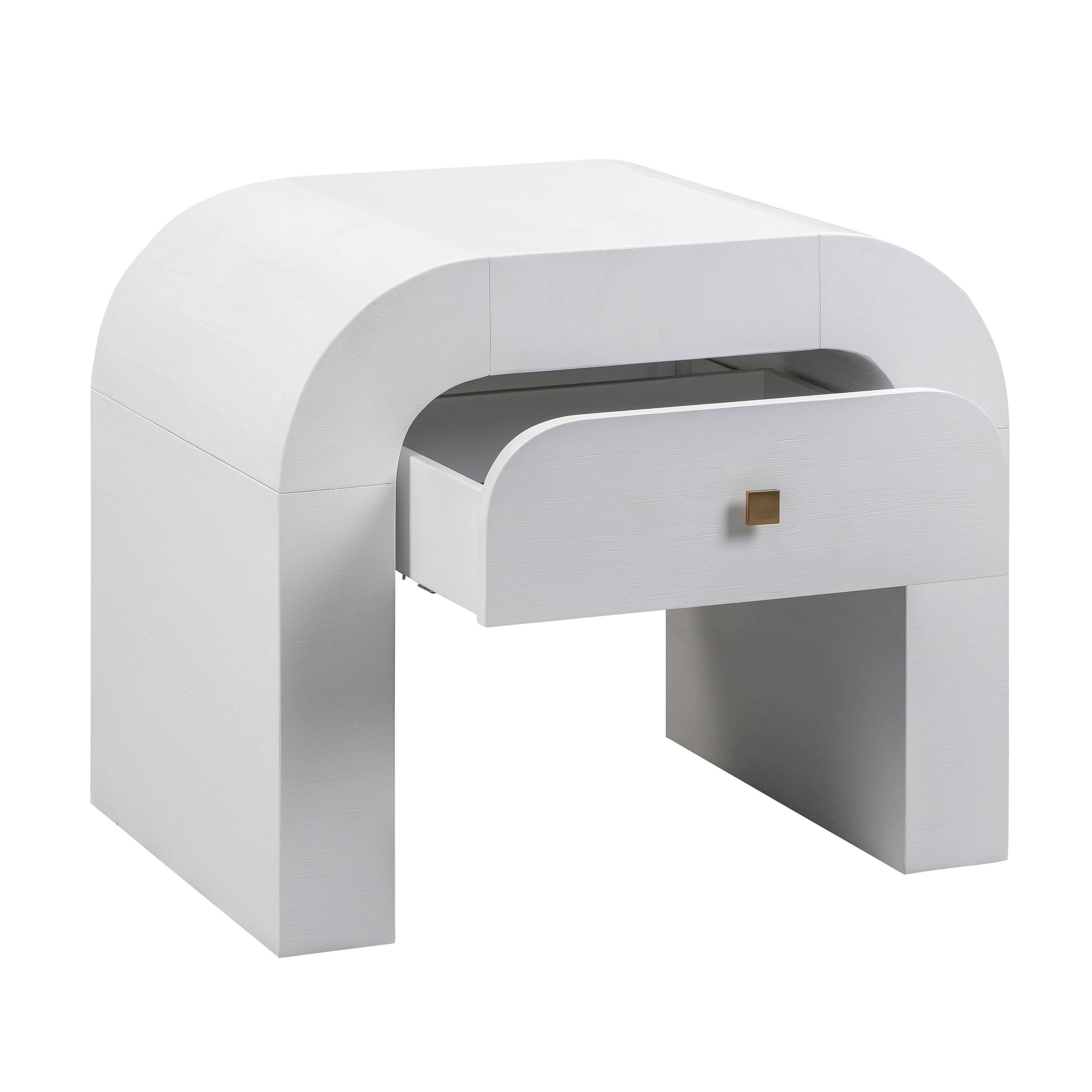 Hump Nightstand, White