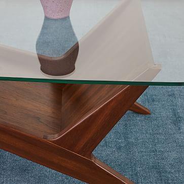 Marcio Display Coffee Table, Dark Walnut