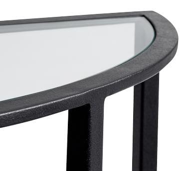 Tanner Demilune Console Table, Bronze