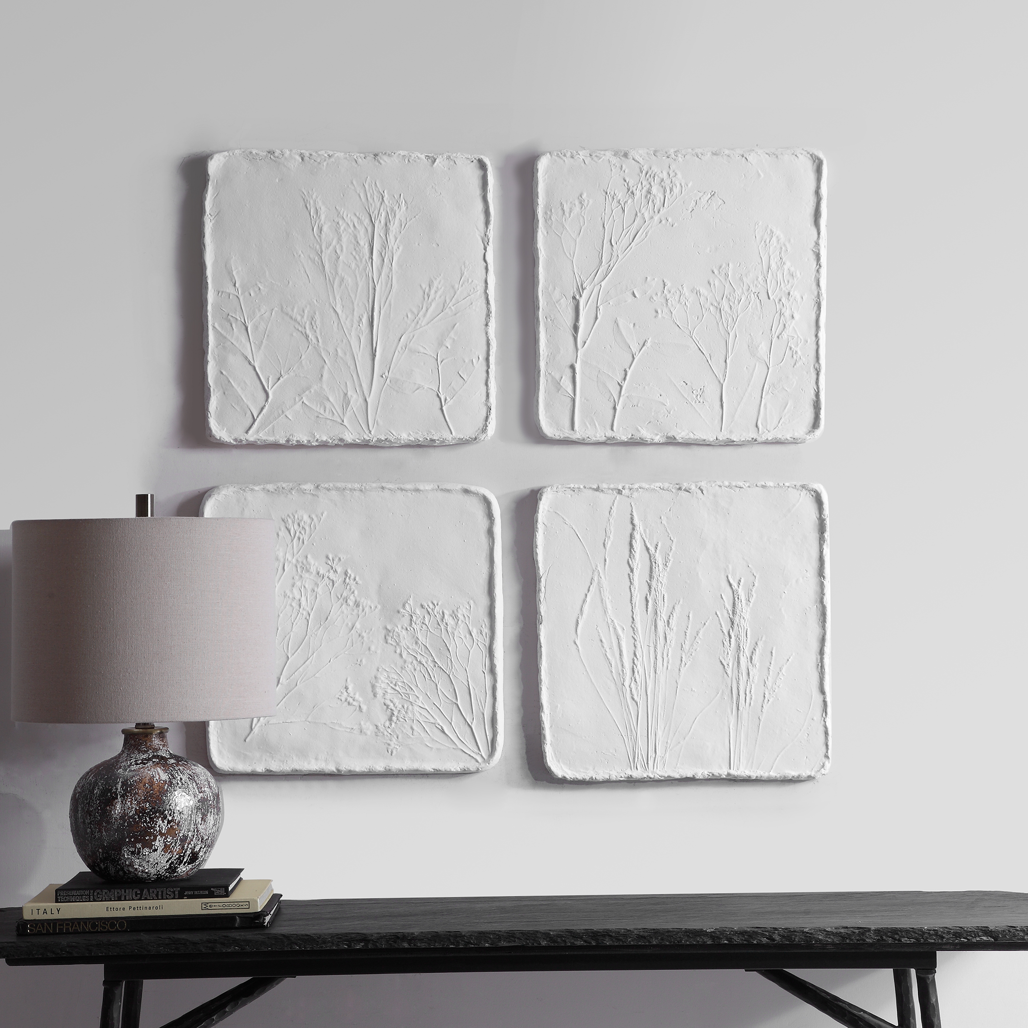 Angeline Floral Wall Decor, S/4
