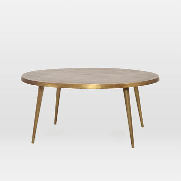 Cast Coffee Table, Antique Brass