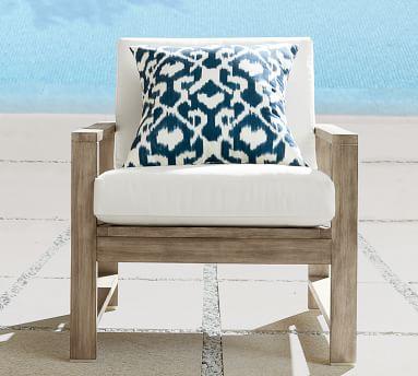 Indio Wood Lounge Chair Frame, Weathered Gray