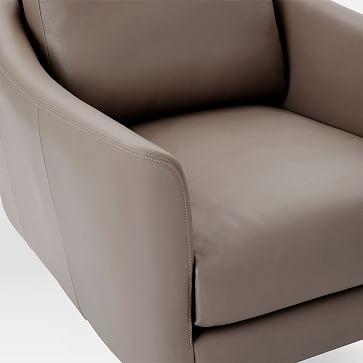 Sloane Armchair, Vegan Leather, Saddle, Light Bronze