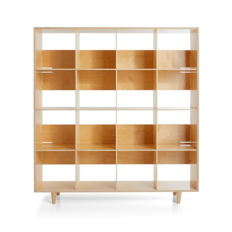 Sprout Natural 16 Cubby Birch Bookcase
