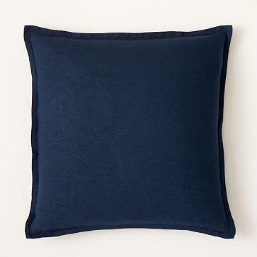 """European Flax Linen Pillow Cover, 20""""x20"""", Terracotta Melange"""