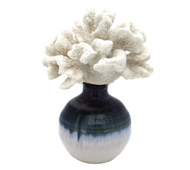 Bear Paw Coral On Reactive Glazed Vase