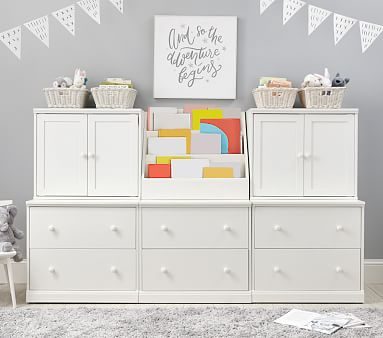 Cameron 1 Cubby, 2 Cabinets, & 3 Double Drawer Base Set, Chocolate, In-Home Delivery & Assembly