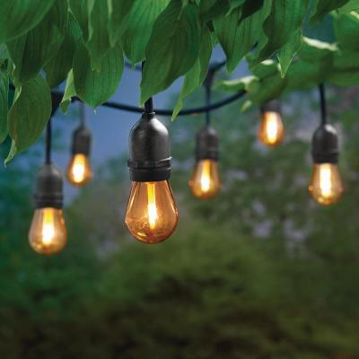 Hampton Bay 12 ft. 6 Socket LED Flame Effect Indoor/Outdoor String Light (4-Pack)