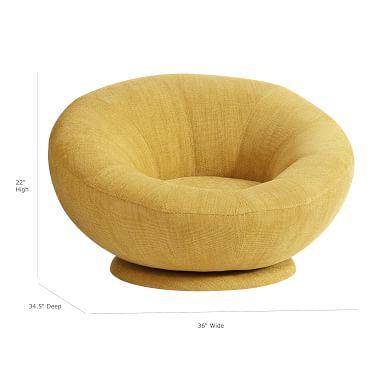 west elm x pbt Basket Slub Groovy Swivel Chair, Dark Horseradish