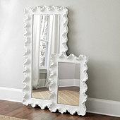 "Atoll Rectangular Mirror with Clear Glass Black 64"" x 30"" - Ballard Designs"