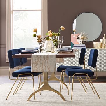 Wire Frame Dining Chair, Performance Coastal Linen, Stone White, Antique Bronze