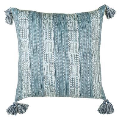 Safavieh Lunette White/Blue 16 in. x 16 in. Throw Pillow