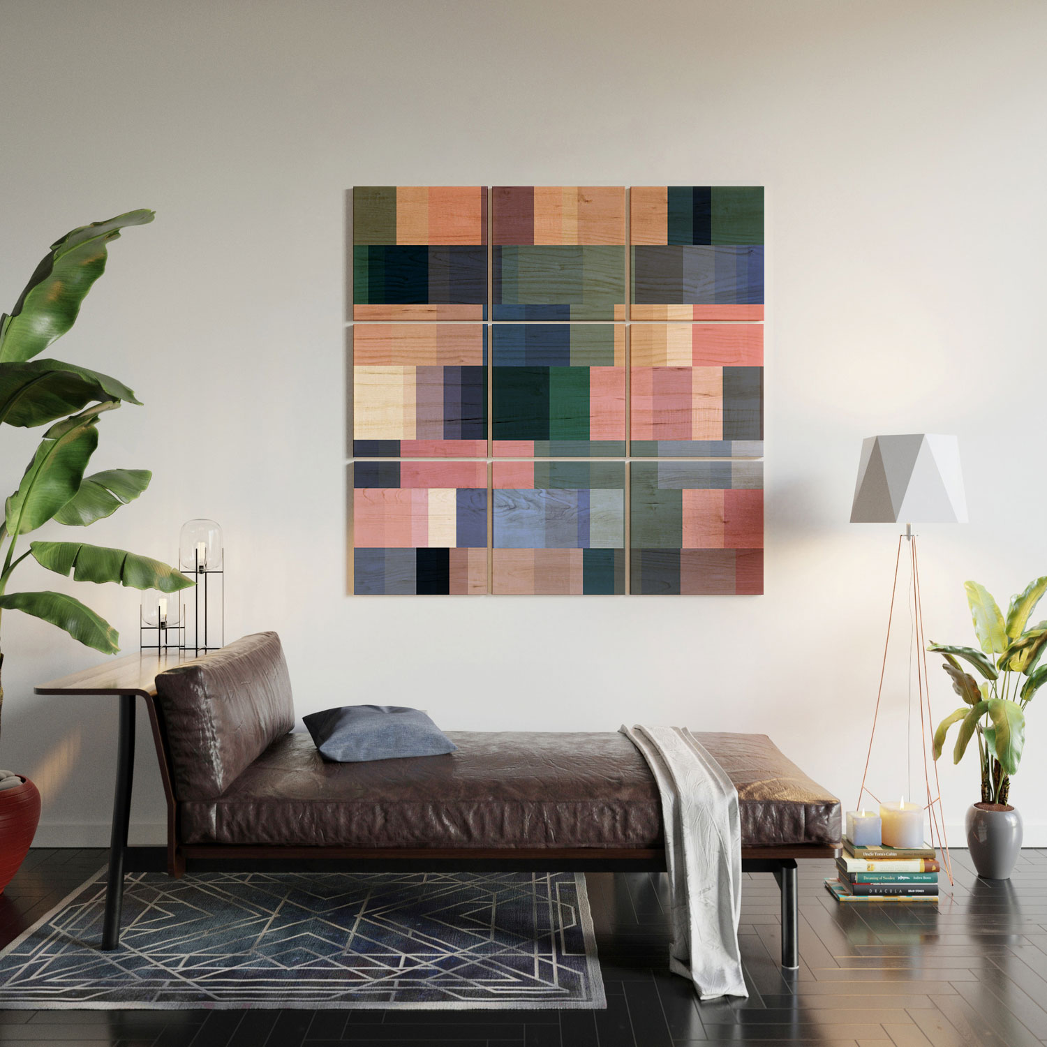 """Nordic Combination 30 A by Mareike Boehmer - Wood Wall Mural3' X 3' (Nine 12"""" Wood Squares)"""