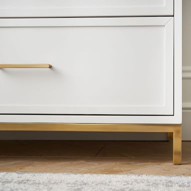 Blaire Tall Dresser, Lacquered Simply White
