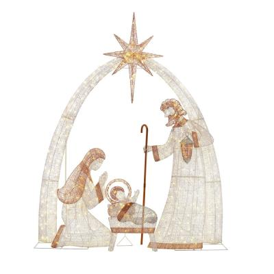 Home Accents Holiday Sweet Serenity 120 in. 440-Light LED Giant Nativity Scene