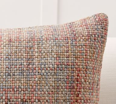"""Renly Embroidered Pillow Cover, 22"""", Warm Multi"""
