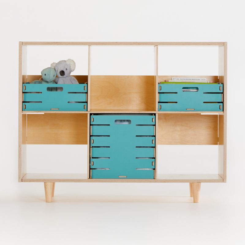 Sprout Natural 6 Cubby Birch Bookcase