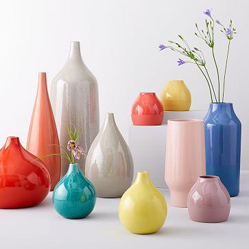Bright Ceramicist Vase, Short Neck, Dijon
