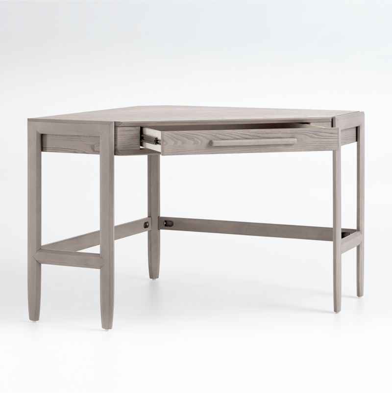 Tate Stone Corner Desk with Power
