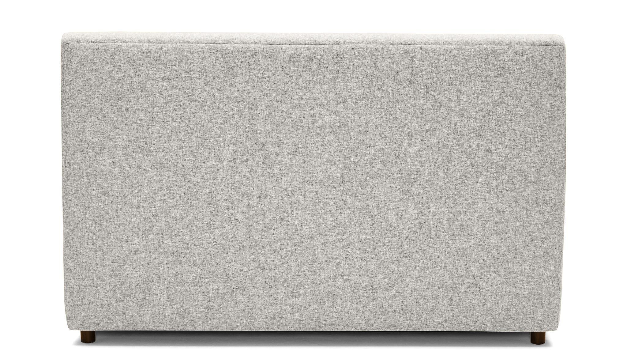 White Alvin Mid Century Modern Storage Bed - Tussah Snow - Mocha - Eastern King