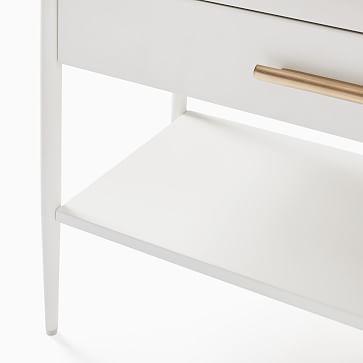 SET OF 2 Metalwork Storage Grand Nightstand, White