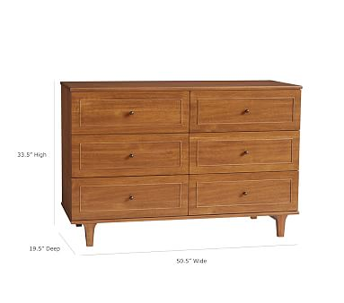 Dawson Extra-Wide Nursery Dresser, Acorn, In-Home Delivery