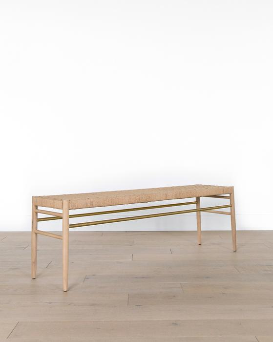 Eloise Woven Bench
