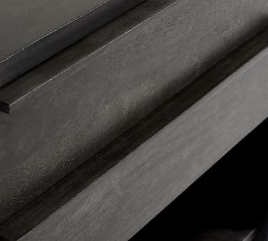 Merced 2-Drawer Nightstand, Warm Black