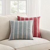 Spencer Stripe Pillow Light Blue  - Ballard Designs