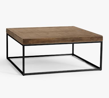 Malcolm Square Coffee Table, Glazed Pine