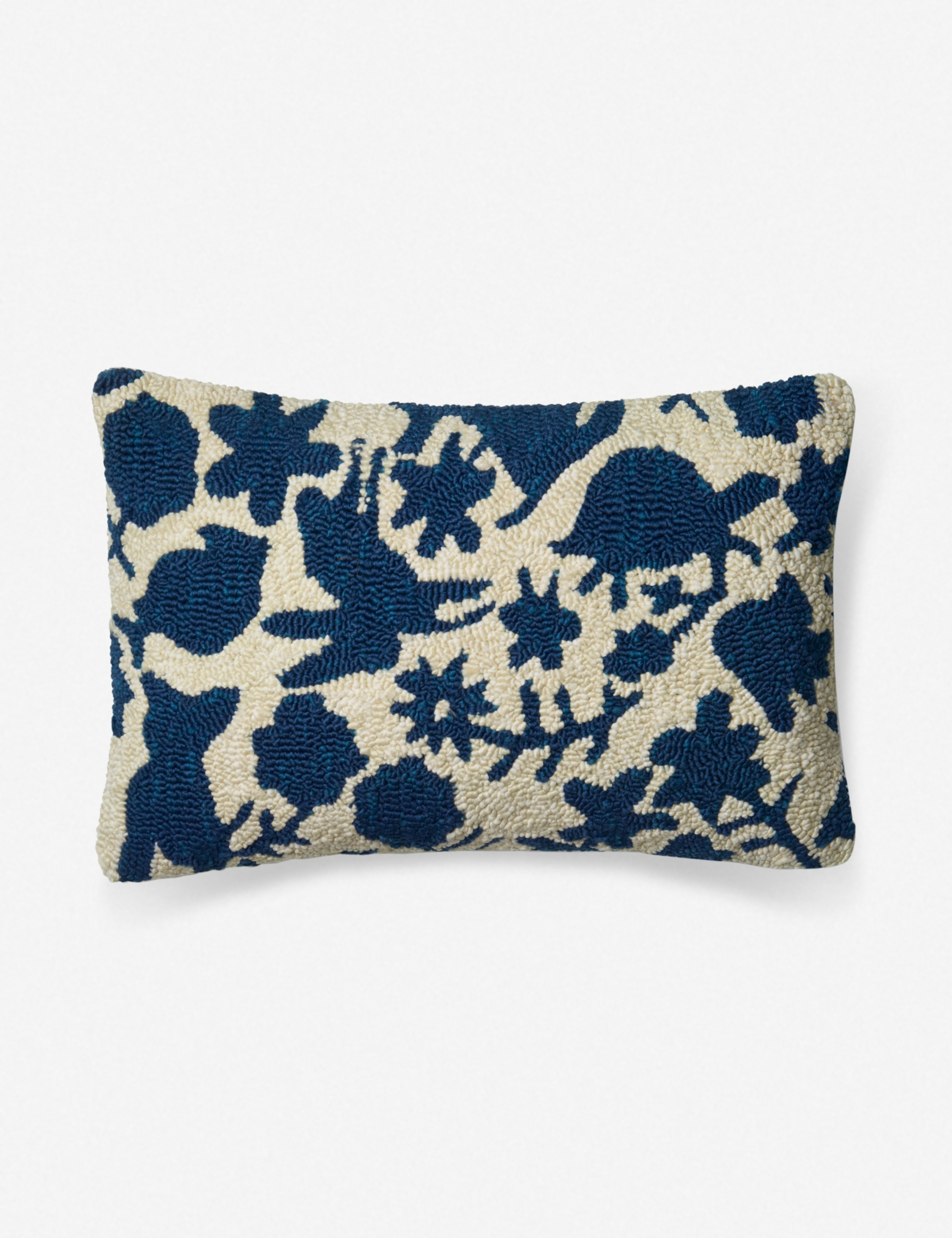 Anahita Indoor Outdoor Throw Pillow Navy And Ivory Lulu And Georgia