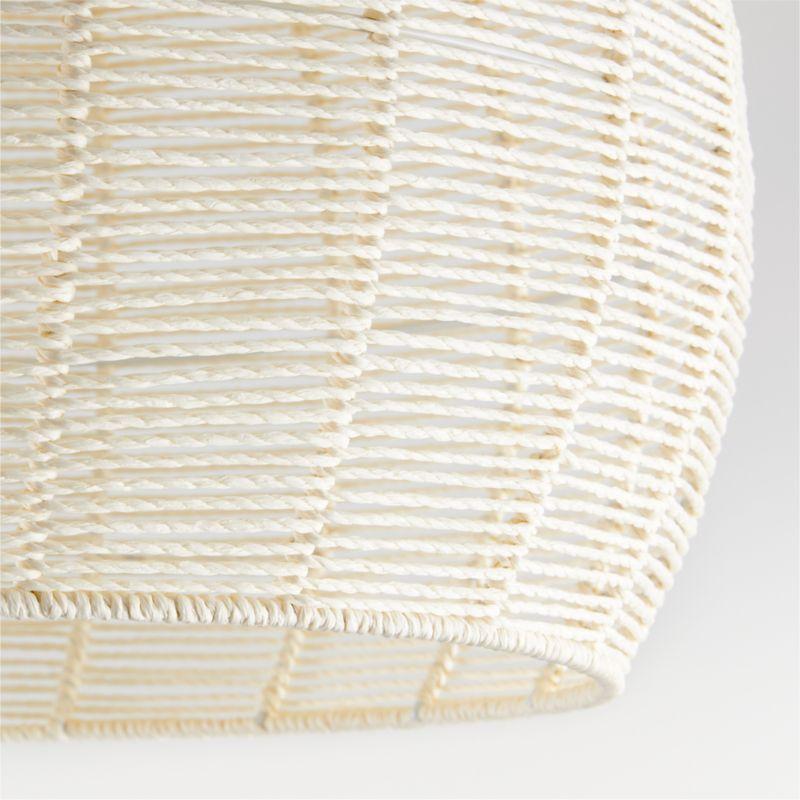 Ivory Woven Rope Flushmount