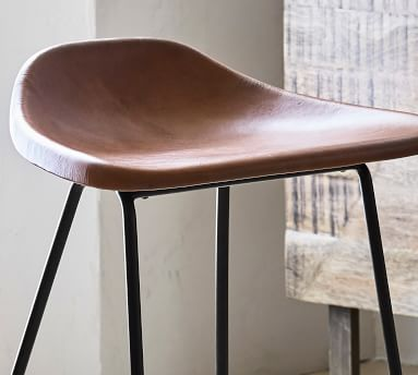 Brenner Leather Counter Stool