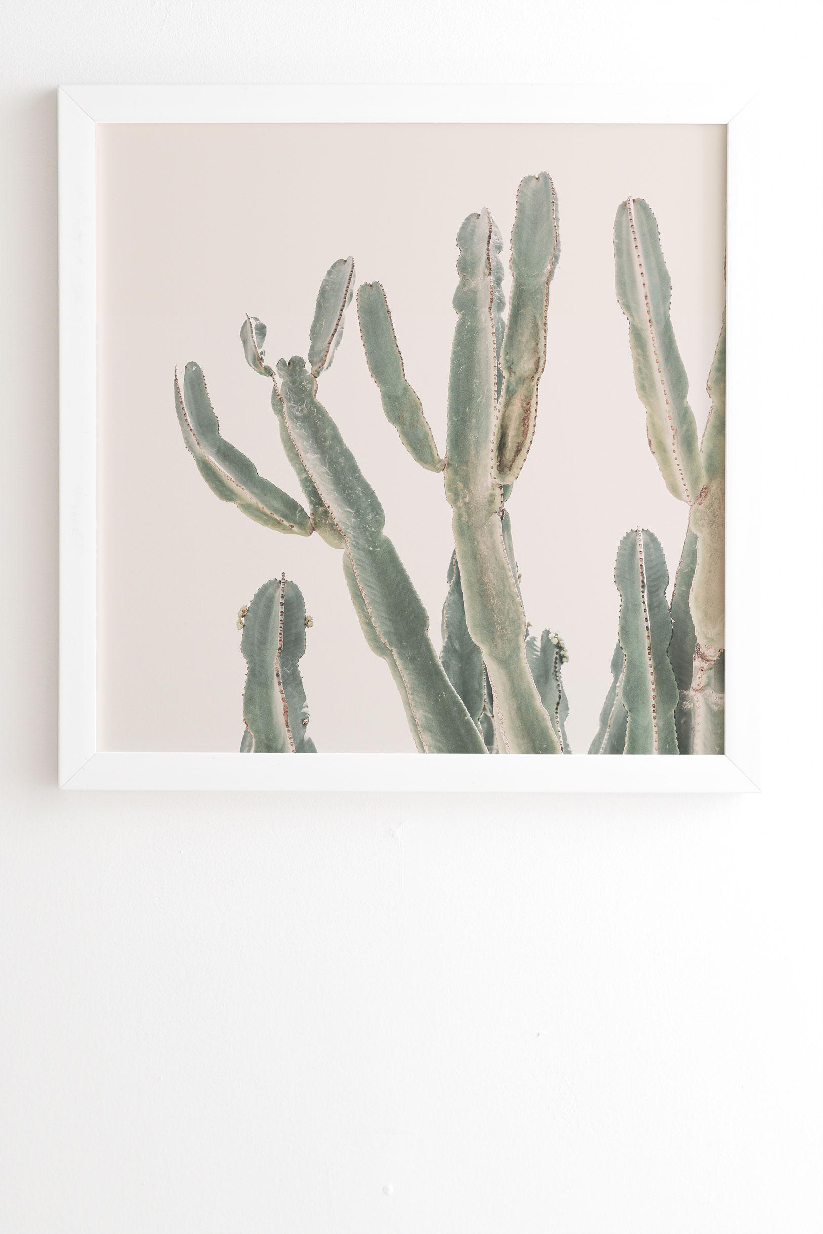 "Sunrise Cactus by Sisi and Seb - Framed Wall Art Basic White 8"" x 9.5"""