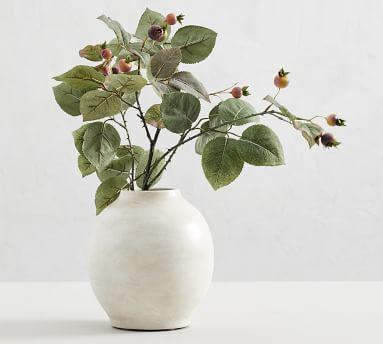 Quinn Ceramic Vase, White - Tall