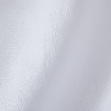"""Custom Size Solid Belgian Flax Linen Curtain, White, 36""""x90"""""""