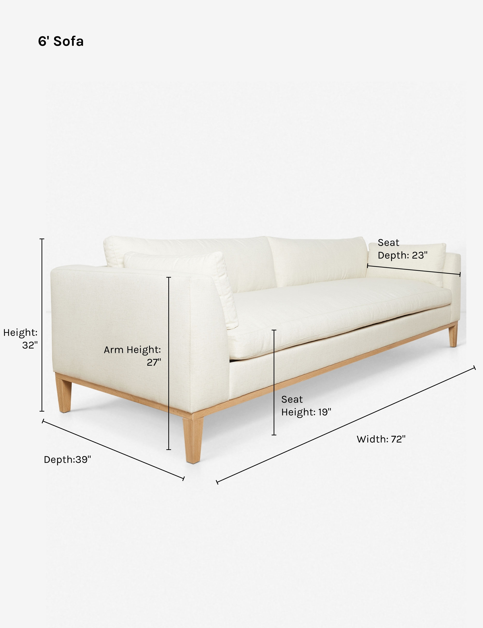 Charleston Sofa, Ivory