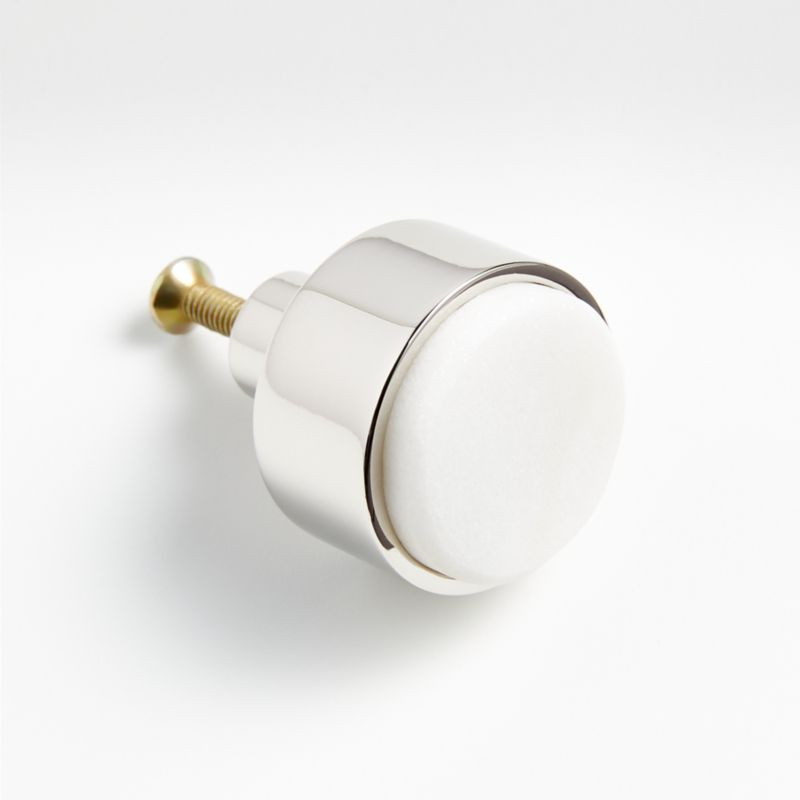 Marble Inlay Antique Brass Knob