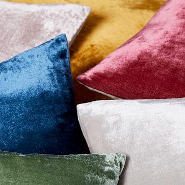 """Lush Velvet Pillow Cover, 20""""x20"""", Regal Blue, Set of 2"""