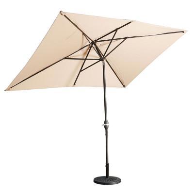 CASAINC 10 ft. Aluminum Rectanglar Market Patio Umbrella in Beige