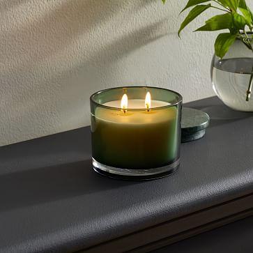 Vitrina Filled Candle, 2 Wick, Opal